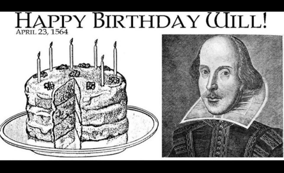 Shakespeare Happy Birthday Will