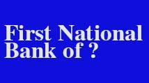 First National Bank of No Brand