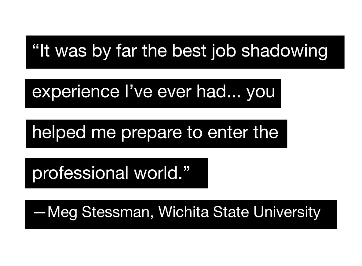 job shadow quote